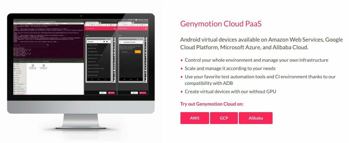 CloudReady Genymotion GCP