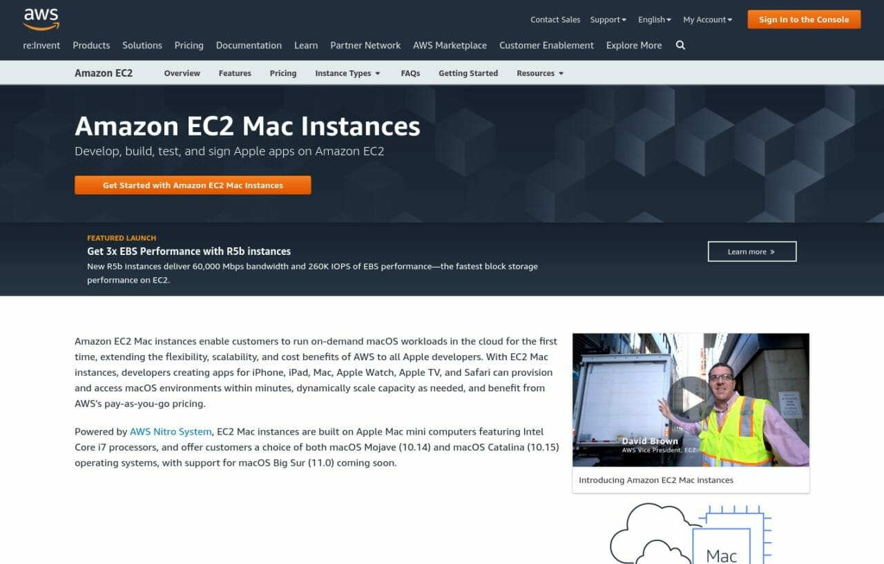 Amazon EC2 Mac Instances